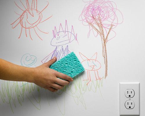 làm sạch các vết bẩn trên tường